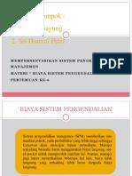 Ppt Spm Chapter 7 Biaya Sistem Pengendalian