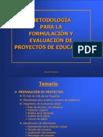 formulacion y evaluacion de proyectos de educacion