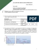 Tercera Evaluación de Ciencia de Materiales II