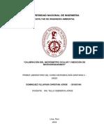 1er Informe de Microbiología- Calibración Del Micrómetro Ocular y Medición de Microorganismos