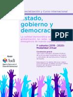 Especializacion Curso Estado Gobierno Democracia