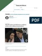 Manifestações Pró-Bolsonaro Ampliam Atritos Entre Aliados Do Presidente