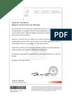 Copia de Inscripción Con Vigencia Del Registro de Comercio