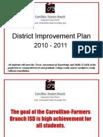 District Improvement Plan Presentation 2010