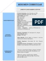 Resumen Curricular Jbarrios Actualizado