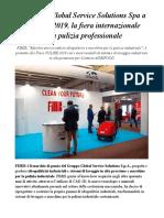 FIMIS by Global Service Solutions Spa a PULIRE 2019, La Fiera Internazionale Della Pulizia Professionale