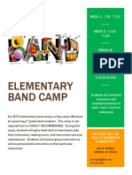 elementary band camp flyer
