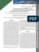 Biodegradacion de Polietileno de Tereftalato Por Microorganismos Aislados de Sitios de Disposición Final de Residuos Sólidos, Tachira, Venezuela