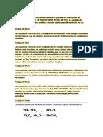 Soluciones de Parcial Quimica