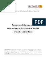 Recommandations Pour La Compatibilité Entre Mises à La Terre Et Protection Cathodique - PDF