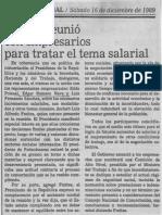 CAP Se Reunio Con Empresarios Para Tratar El Tema Salarial - El Nacional 16.12.1989
