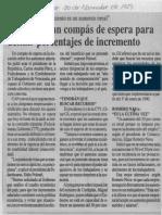 Edgard Romero Nava - CAP Pidio Un Compas de Espera Para Definir Porcentajes de Incremento - Diario Reporte 30.11.1989