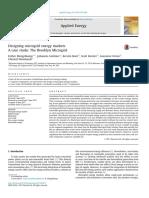 Designing Microgrid Energy Markets a Case StudyThe Brooklyn Microgrid
