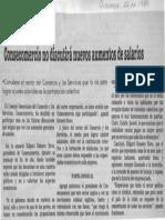Edgard Romero Nava - Consecomercio No Discutira Nuevos Aumentos de Salarios - 22.11.1989