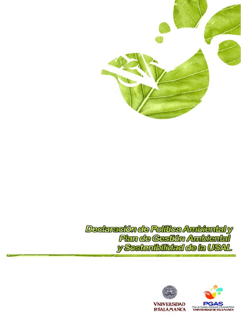 Plan Gestión Amb. y Sost. USAL   Residuos   Desarrollo ...