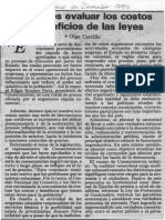 Edgard Romero Nava - Debemos Evaluar Los Costos y Beneficios de Las Leyes - Olga Carrillo Diario El Espacio 01.12.1989