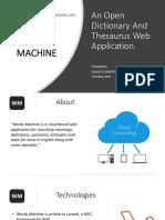 WordsMachine.com Presentation