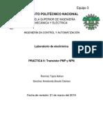 Práctica No.6 Electronica