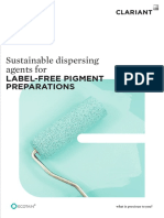2015 Sustainable Dispersing Agents for Label Free Pigment Preparations