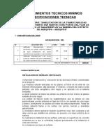 Tdr Adquisicion de Señalizacion Vertica