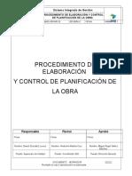 Opr-prc-01-Procedimiento de Elaboración y Control de Planificación de La Obra