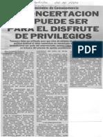 Edgard Romero Nava - La concertacion no puede ser para el disfrute de privilegios - El Carabobeño 22.12.1989