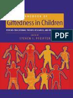 Handbook of Giftedness Childrens
