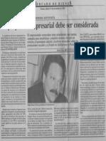 Edgard Romero Nava - La Propuesta Empresarial Debe Ser Considerada - Economia Hoy 25.11.1989