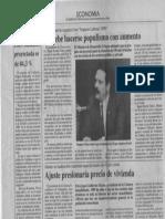 Edgard Romero Nava - No Debe Hacerse Populismo Con Aumento - El Diario de Caracas 30.11.1989