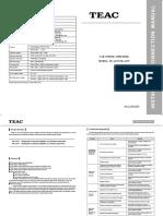 TEAC TE-A475 User Manual Radiodetalis.ru