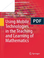 (Mathematics Education in the Digital Era 12) Nigel Calder, Kevin Larkin, Nathalie Sinclair - Using Mobile Technologies in the Teaching and Learning of Mathematics-Springer International Publishing (2