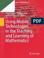 (Mathematics Education in the Digital Era 12) Nigel Calder, Kevin Larkin, Nathalie Sinclair - Using Mobile Technologies in the Teaching and Learning of Mathematics-Springer International Publishing (2