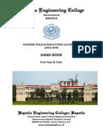 R18 Scheme - Academic Rules & Regulations