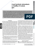 Effect of Natural and Synthetic Antioxidants on the Oxidative Stability of Cooked, Frozen Pork Patties