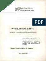 O Ensino De Administração Pública - Histórico e Diagnóstico