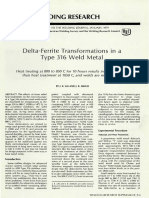 Delta Ferrite Transformation in a 316L Weld Metal