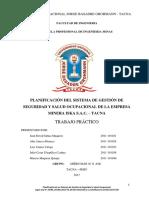 02 Planificación Del Sistema de Gestión de Seguridad y Salud Ocupacional de La Empresa Minera Iska s.a.c. Tacna Ofiiiiii Pa Luz
