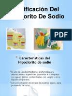 Dosificación Del Hipoclorito de Sodio