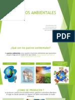 Pasivos Ambiental y Metodologias de Valoración