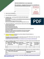 1) Supplementary Information Requirment Sheet- Pvt. Ltd.