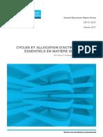 DP21-2017-Cycles Et Allocation d?Actifs-Les Choix de Placements