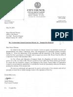 Letter to Mayor Thomas
