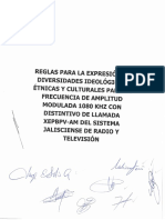 Reglas Para La Expresion de Las Diversidades Ideológicas, Etnicas y Culturales Aprobadas Por El Consejo Ciudadano 1080 Am