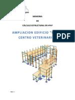 Memoria de Calculo Union Centro Veterinario