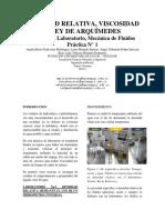 Informe Laboratorio Mecanica de Fluidos