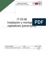 IT-03.06 Instalacion y Montaje de Captadores (Pararrayos) v02