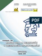Manual Presentación Monografias Escuela militar de Ingeniería