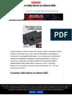 Cuanta Vida Tiene Un Disco SSD