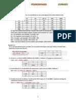 maths 1re pourcentages ex corr
