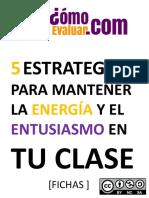 5 Estrategias Para Mantener La Energía y El Entusiasmo en Tu Clase (p5)